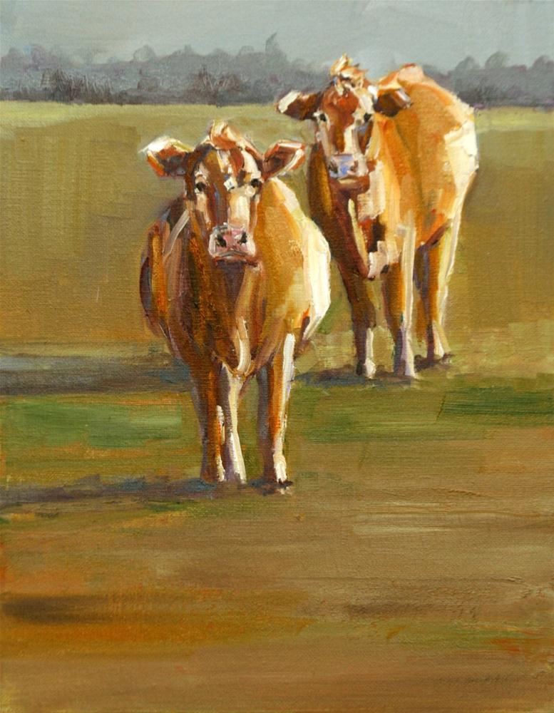 """moe and curly revamped"" original fine art by Carol Carmichael"