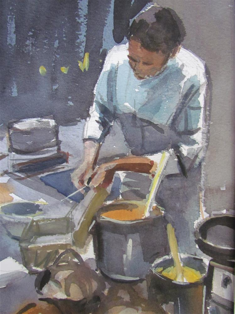 """""""à la cuisine"""" original fine art by gilles Poulizac"""