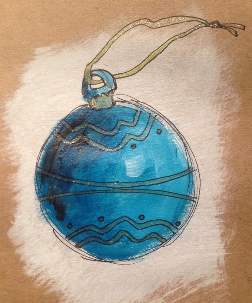 """Waverly Christmas"" original fine art by Dotty  Seiter"