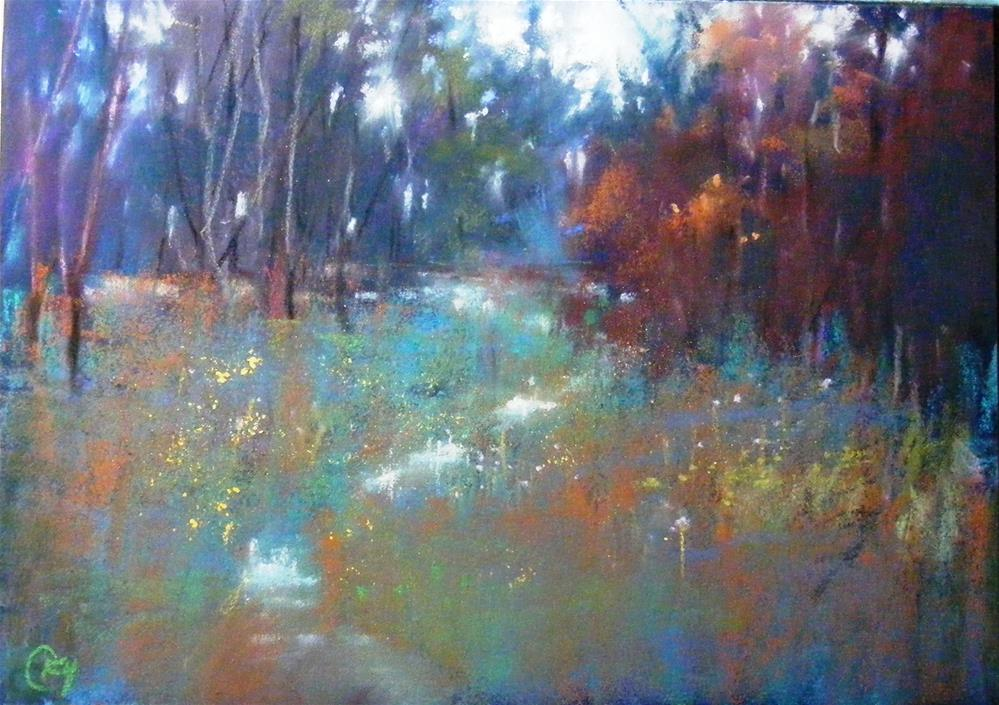 """Variation of Trail"" original fine art by Celine K.  Yong"