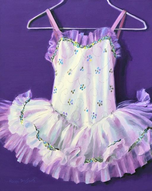 """Princess Ballet Tutu"" original fine art by Nance Danforth"