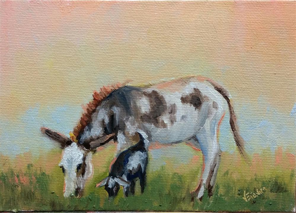 """""""Pasture Buddies"""" original fine art by Veronica Brown"""