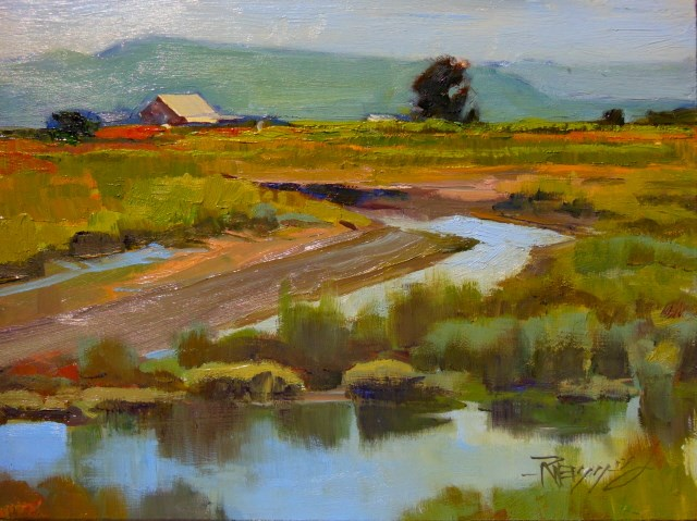 """Indian Slough LaConner, plein air, oil , landscape painting by Robin Weiss"" original fine art by Robin Weiss"