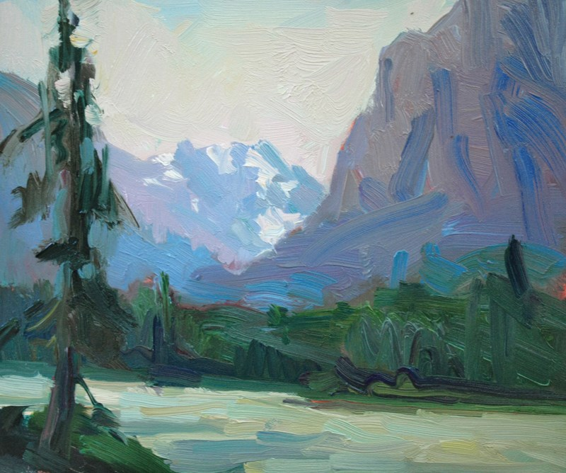 """Athabasca River"" original fine art by Kathryn Townsend"