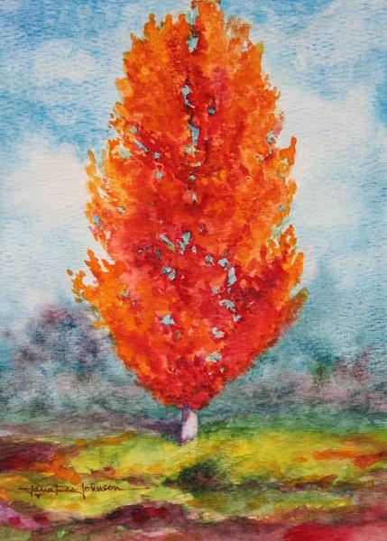 """Orange Tree"" original fine art by Jana Johnson"
