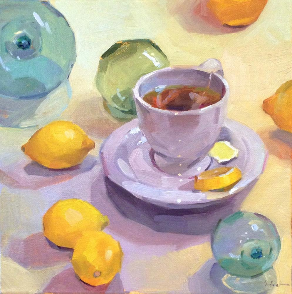 """Lemon Tea"" original fine art by Sarah Sedwick"