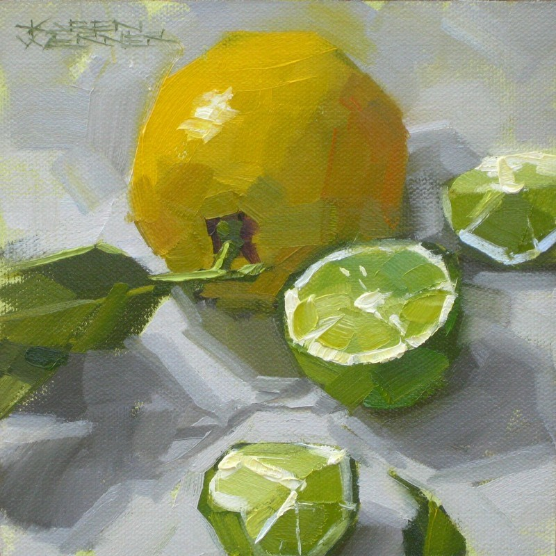"""Lemon Lime"" original fine art by Karen Werner"