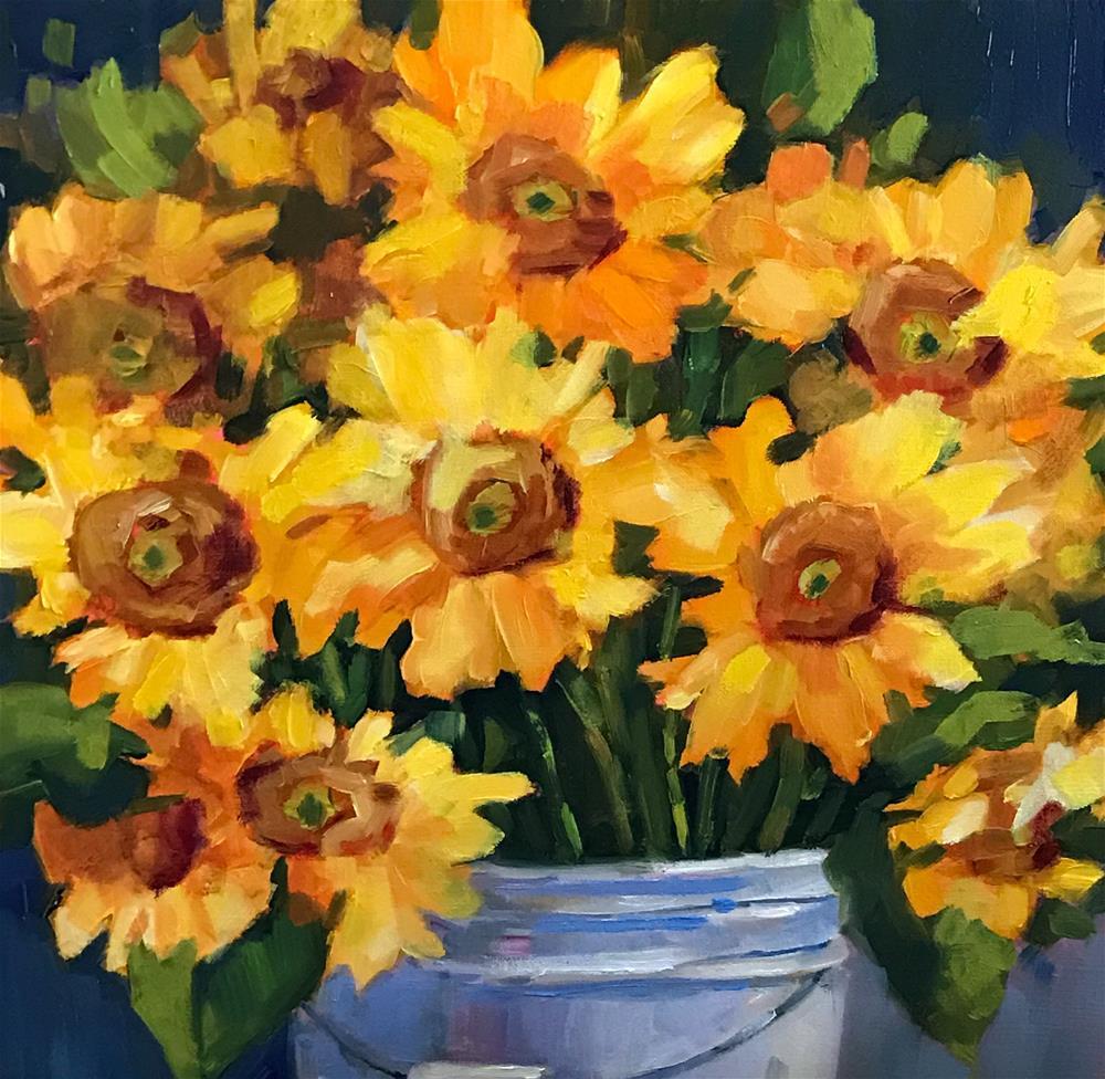 """Sunflower Surprise"" original fine art by Libby Anderson"