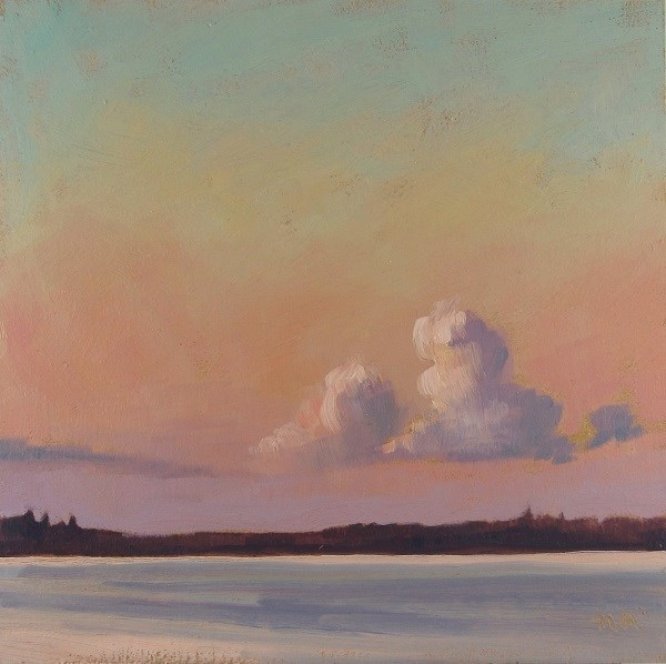 """Summer's Evening Glow"" original fine art by Nicki Ault"