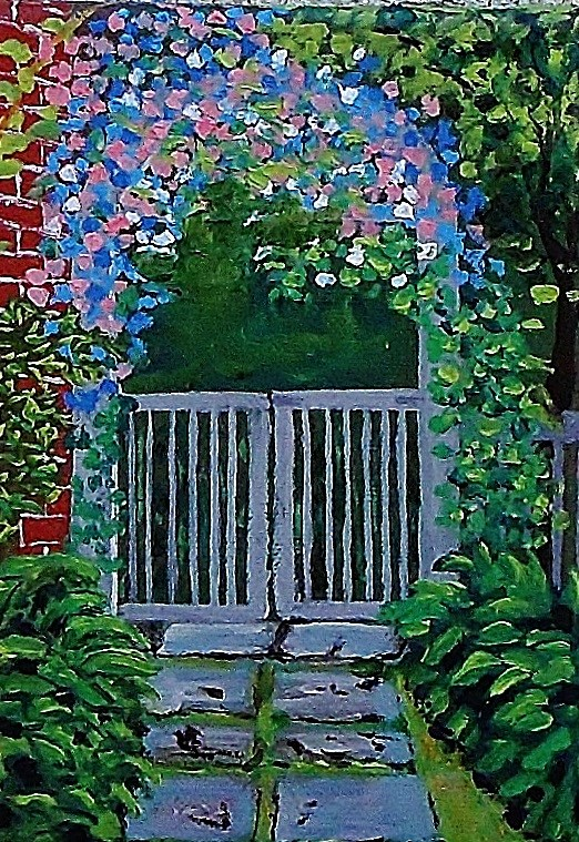 """The Side Gate"" original fine art by Mike Caitham"