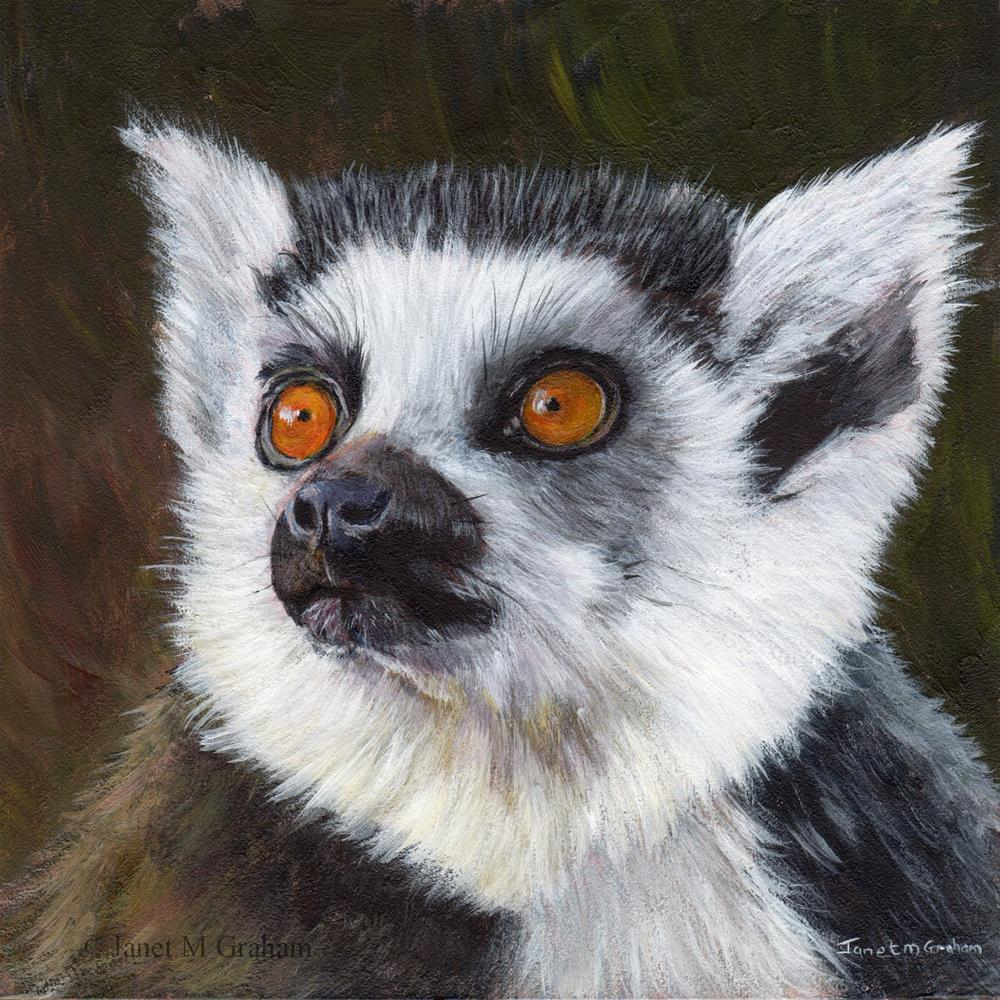 """Lemur"" original fine art by Janet Graham"