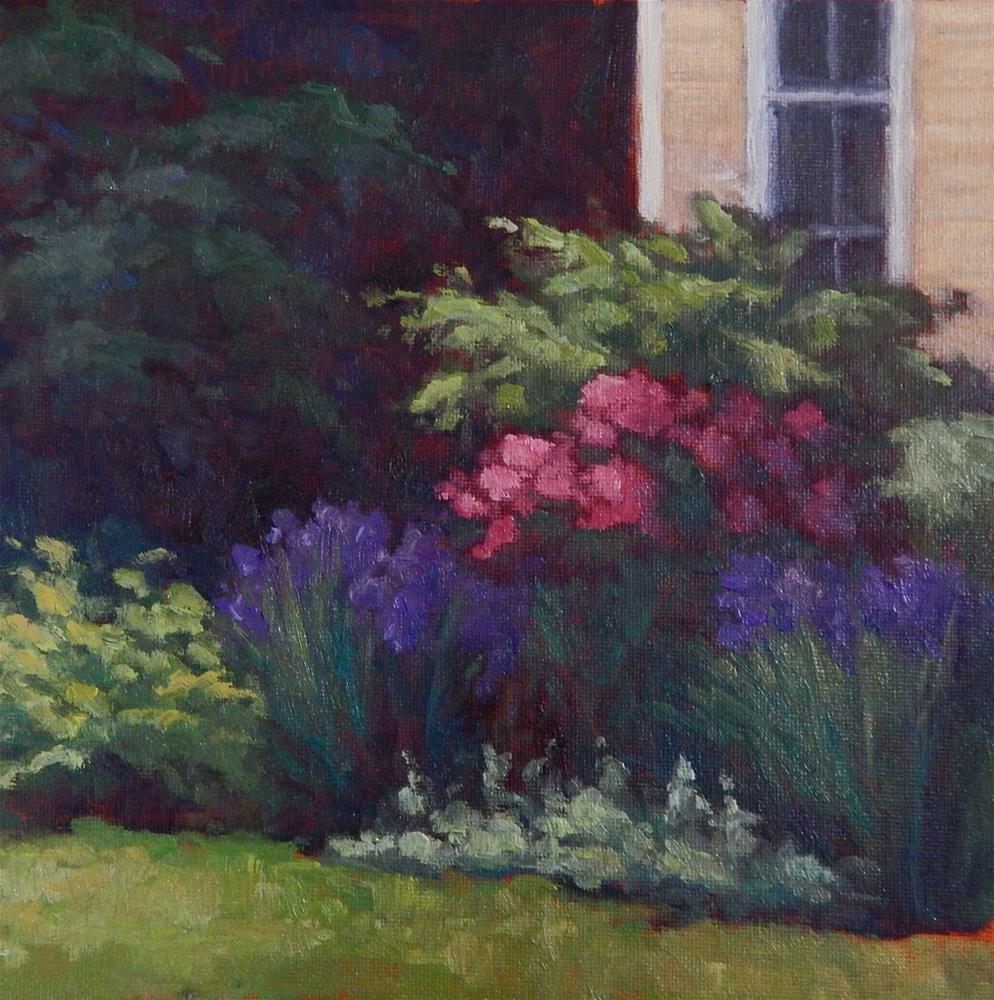 """Peonies and Iris"" original fine art by Lisa Kyle"