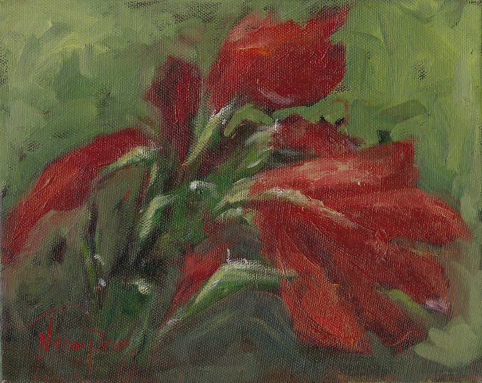 """Amaryllis"" original fine art by Norma Thompson"