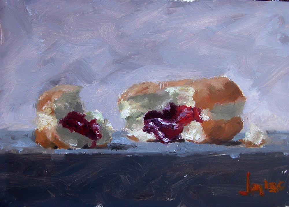 """Jelly Doughnut"" original fine art by Richard Jones"