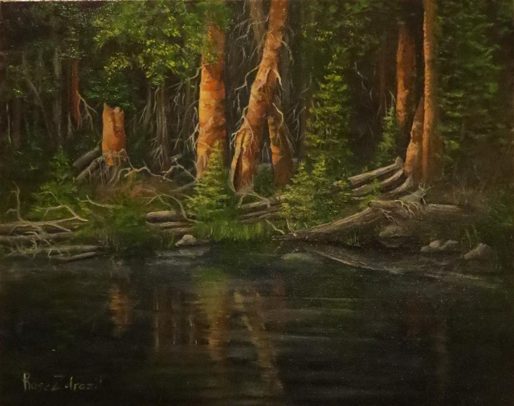 """Reflections"" original fine art by Rose Zdrazil"