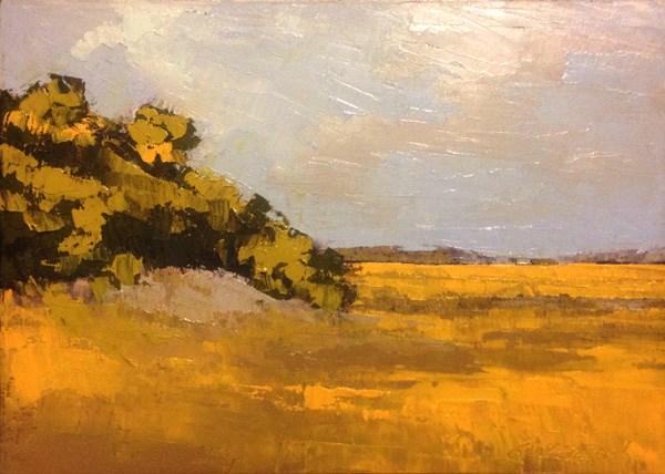"""Marsh Edge, Fall Light"" original fine art by Mary Gilkerson"