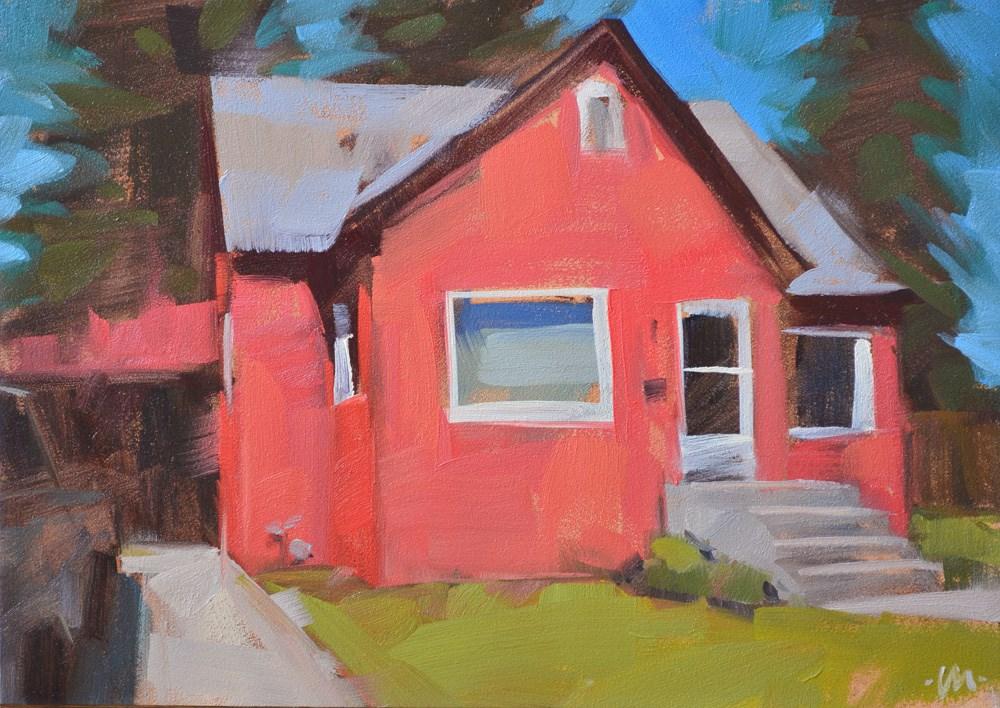 """Pink House 3"" original fine art by Carol Marine"