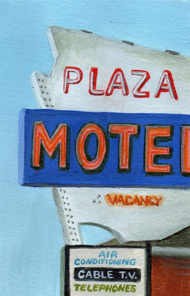 """Plaza Motel"" original fine art by Debbie Shirley"