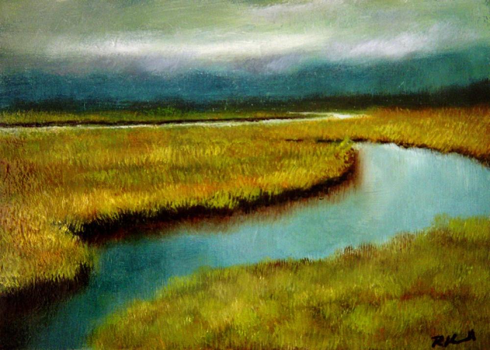 """Marshland"" original fine art by Bob Kimball"