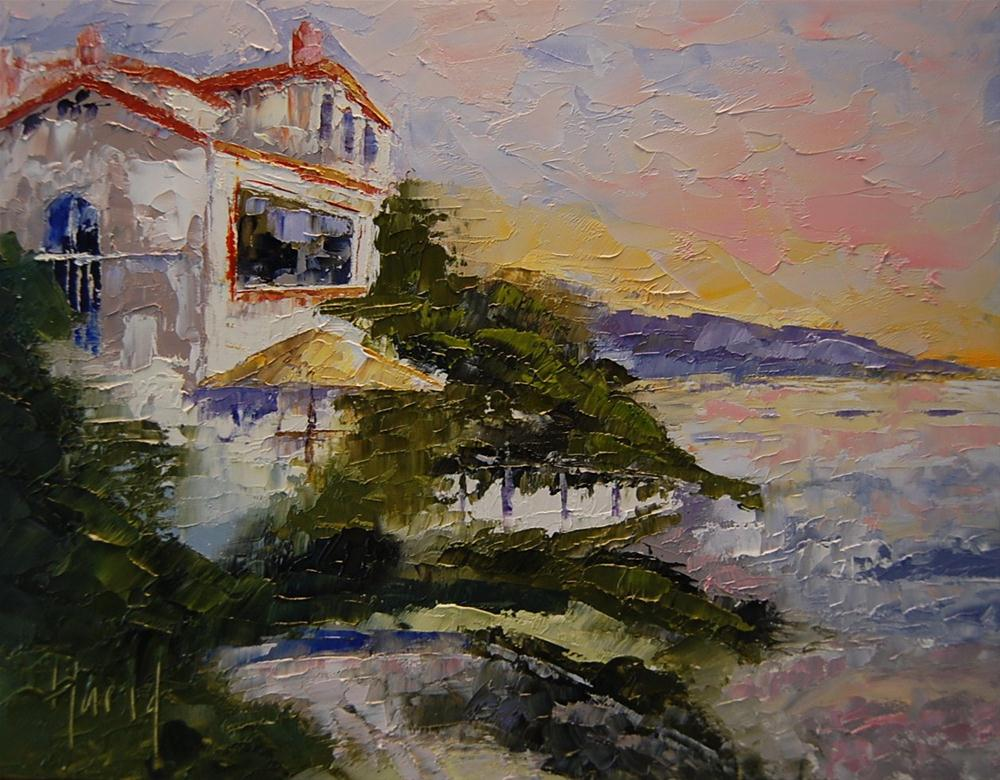 """Laguna Beach House"" original fine art by Deborah Harold"