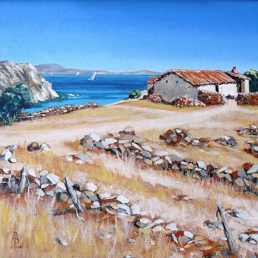 """Old farm, Lemnos, Greece"" original fine art by Alix Baker"