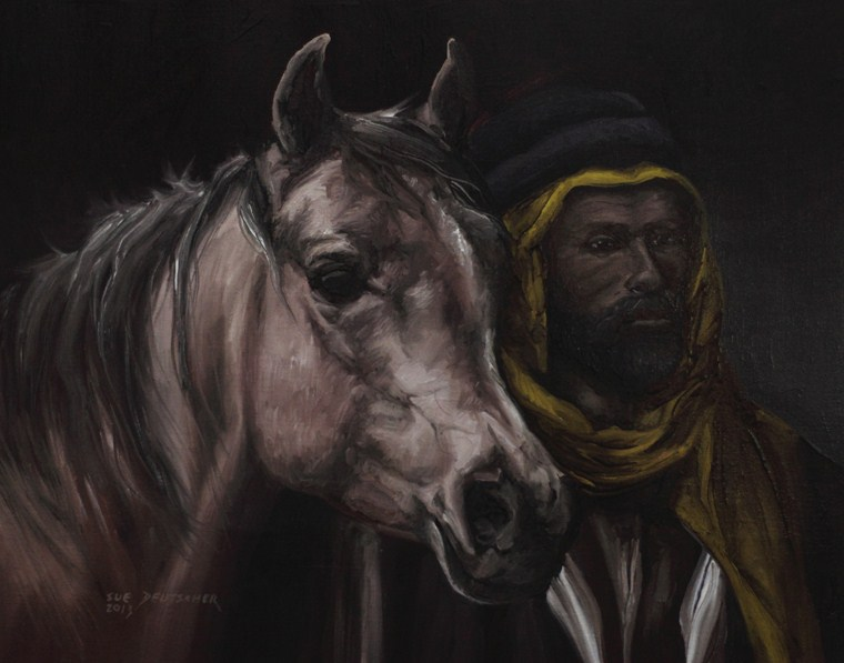 """The Bedouin's Mare"" original fine art by Sue Deutscher"