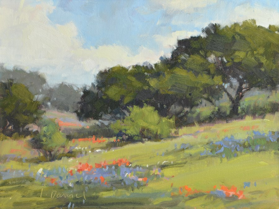 """Rolling Hills of Color"" original fine art by Laurel Daniel"