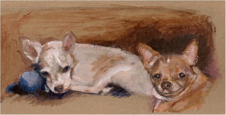 """Dexter and Petunia"" original fine art by Kimberly Bella"