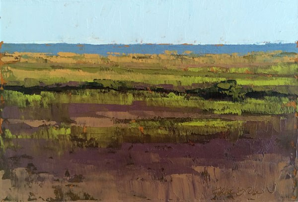 """Fall Marsh, Low Tide"" original fine art by Mary Gilkerson"