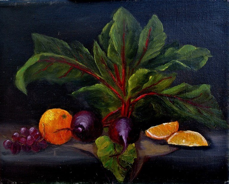 """""""Beets with Oranges"""" original fine art by Mary Datum"""