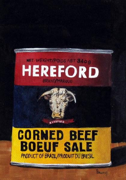 """Corned Beef Tin"" original fine art by Sherry Bellamy"