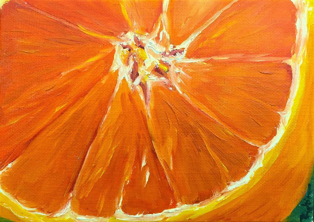 """Orange Half"" original fine art by Renee Robison"
