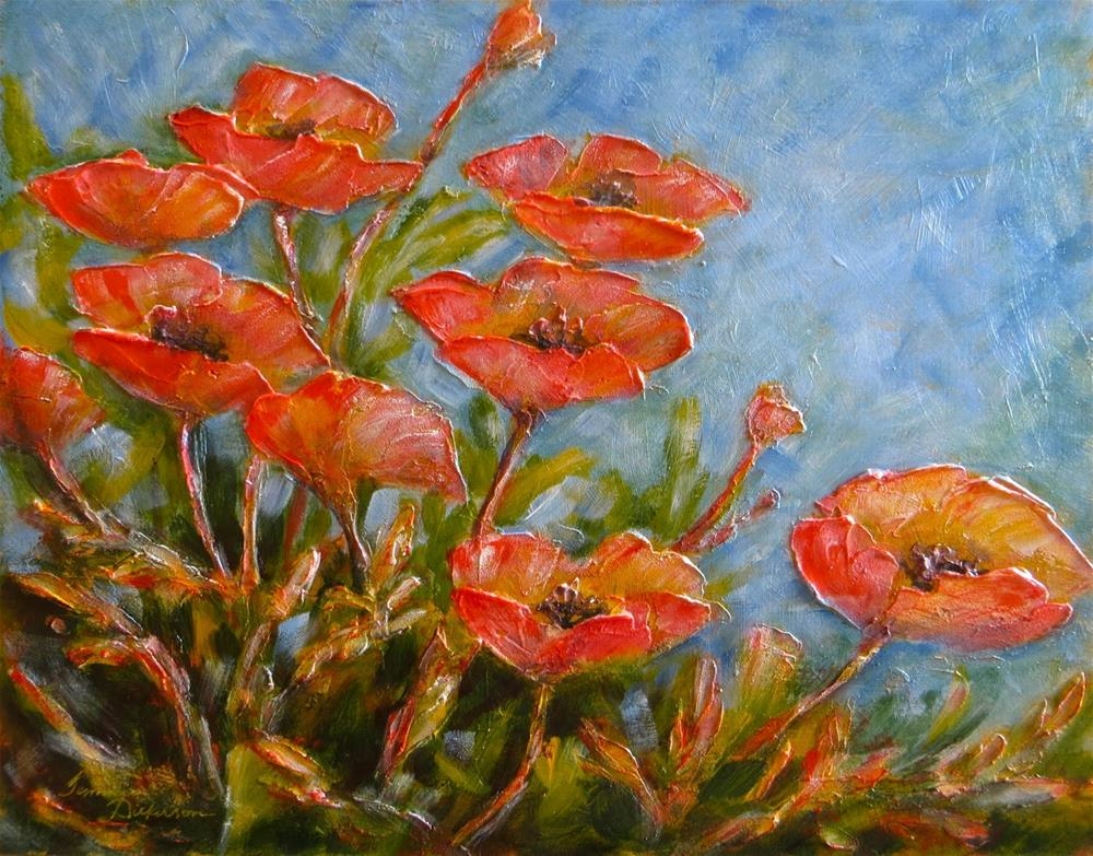"""The Poetry of Poppies"" original fine art by Tammie Dickerson"