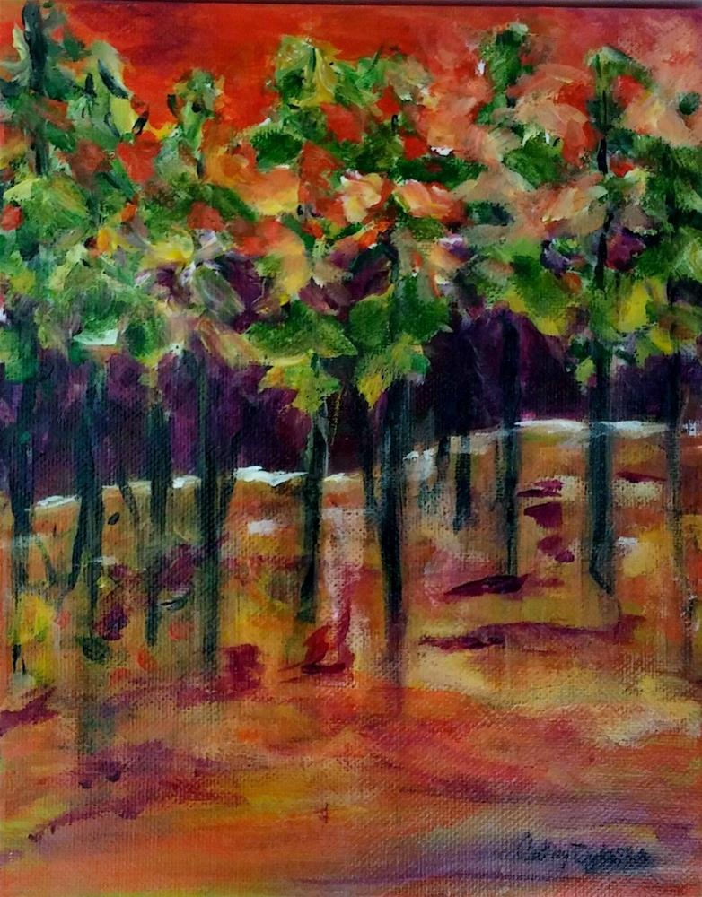 """Warmth in the Woods"" original fine art by Cathy Dykstra"