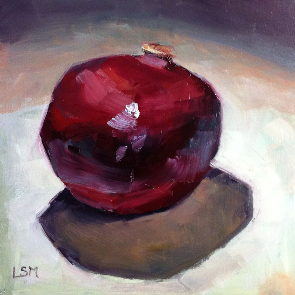 """Pomegranate"" original fine art by Linda Marino"