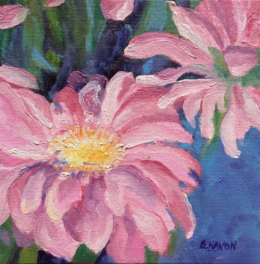 """Two Flowers"" original fine art by Stephanie Navon Jacobson"