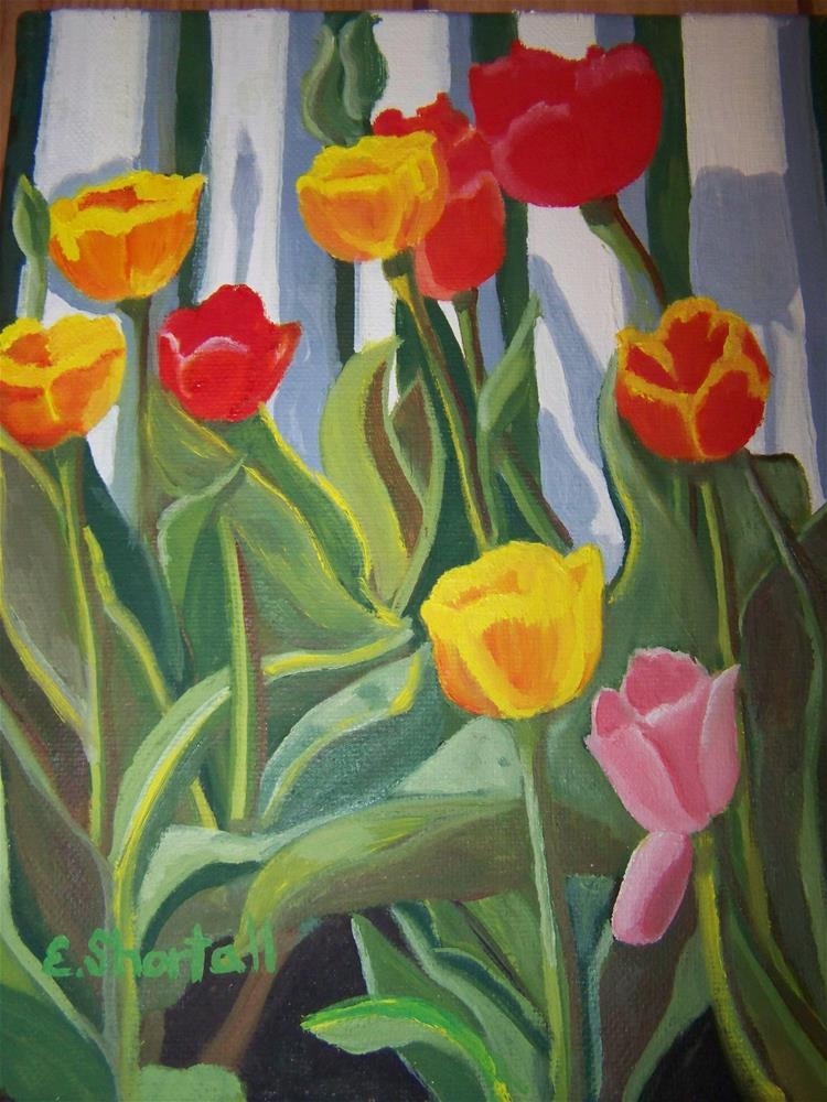 """St. Michaels Tulips"" original fine art by Elaine Shortall"