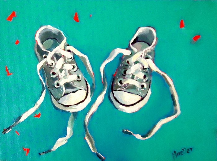 """Barefoot"" original fine art by Laurie Mueller"
