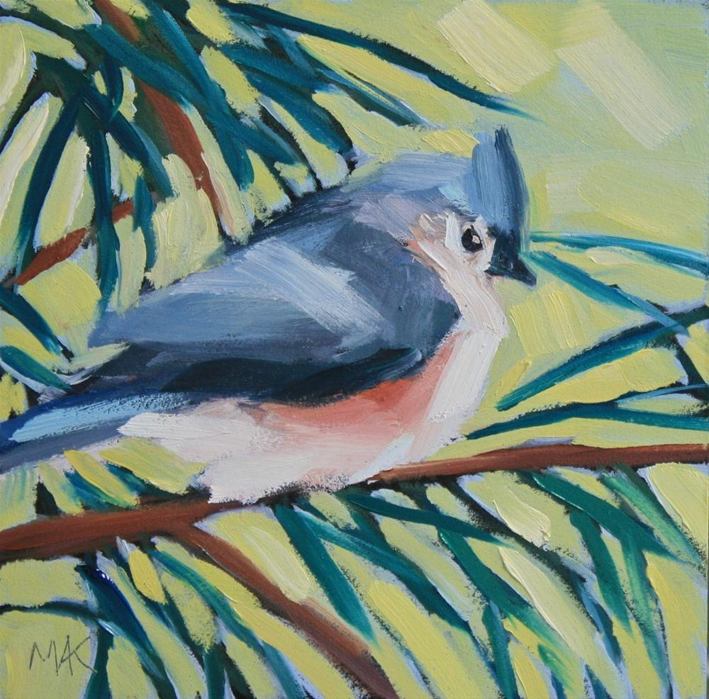 """Titmouse"" original fine art by Mary Anne Cary"