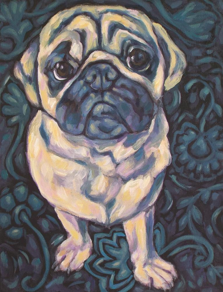 """Pug"" original fine art by Kathy Hiserman"