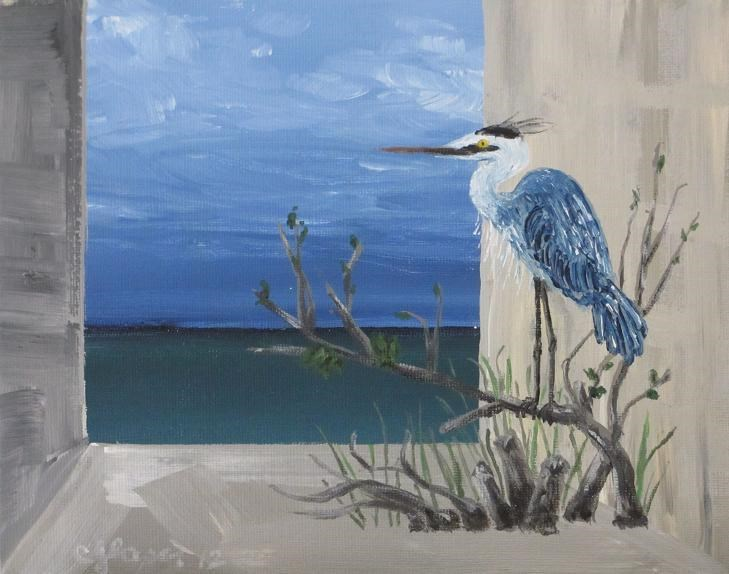 """The Observer"" original fine art by christina glaser"