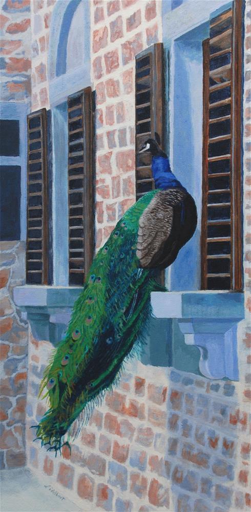 """Tuscan Mascot"" original fine art by Lynne Reichhart"