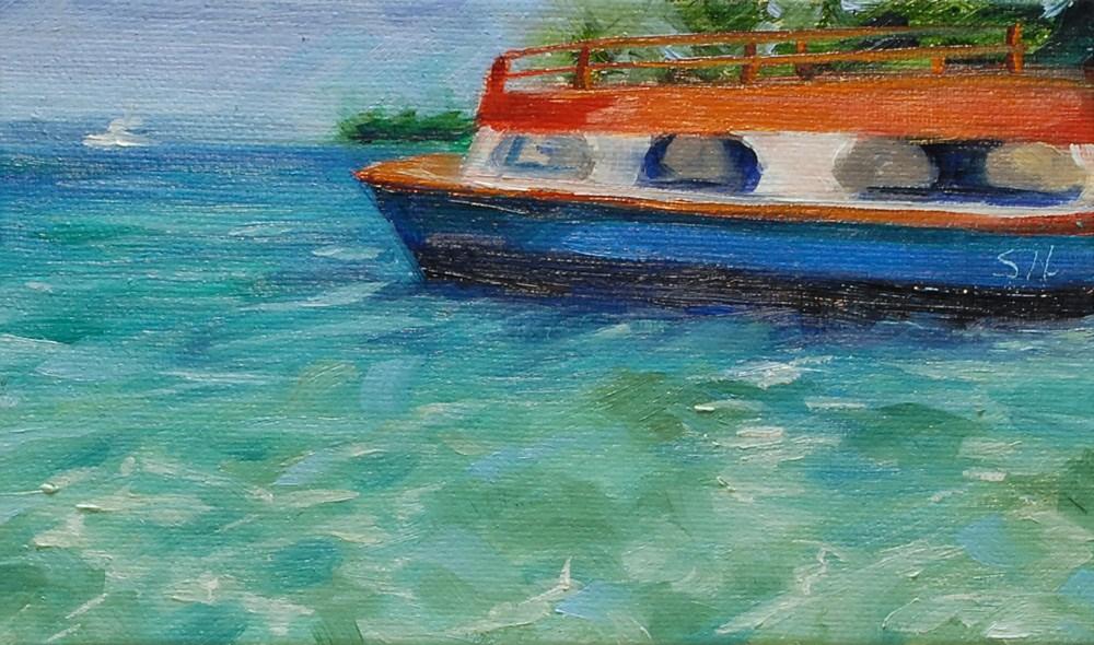 """Glass Bottom Boat"" original fine art by Shinhuey Ho"