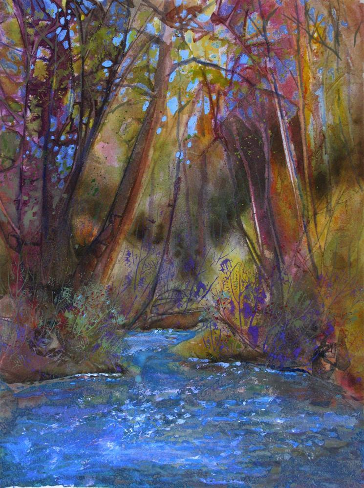 """""""Deep, Deep Woods"""" original fine art by Melissa Gannon"""