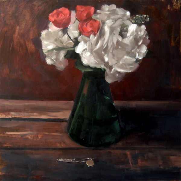 """Roses and Hydrangeas (no.54)"" original fine art by Michael William"