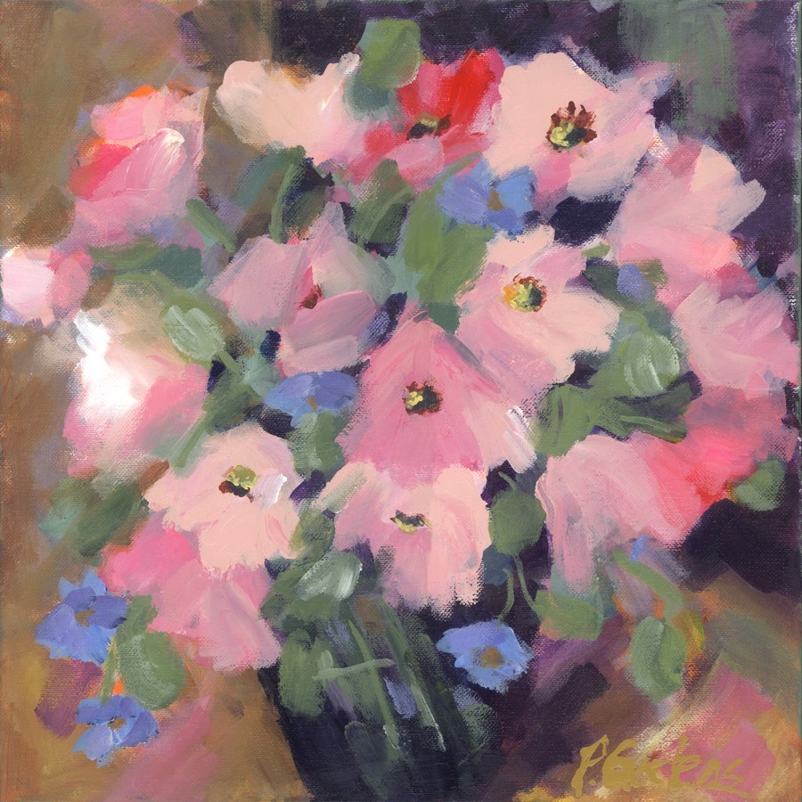 """Pink Poppies"" original fine art by Pamela Gatens"