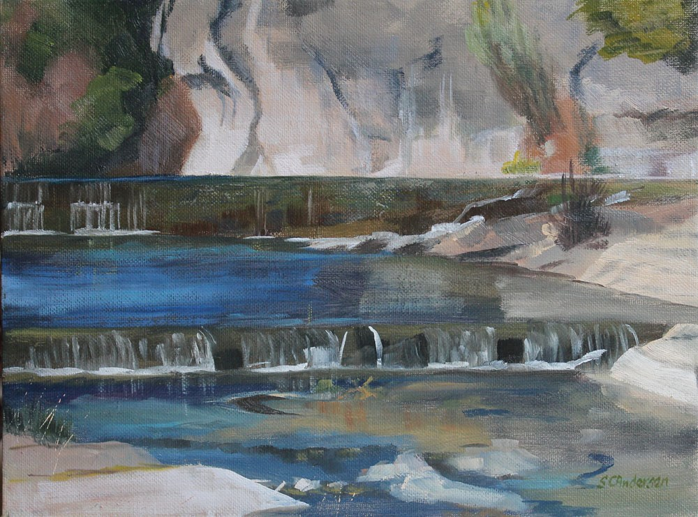 """San Gabriel River"" original fine art by Susan Andersen"