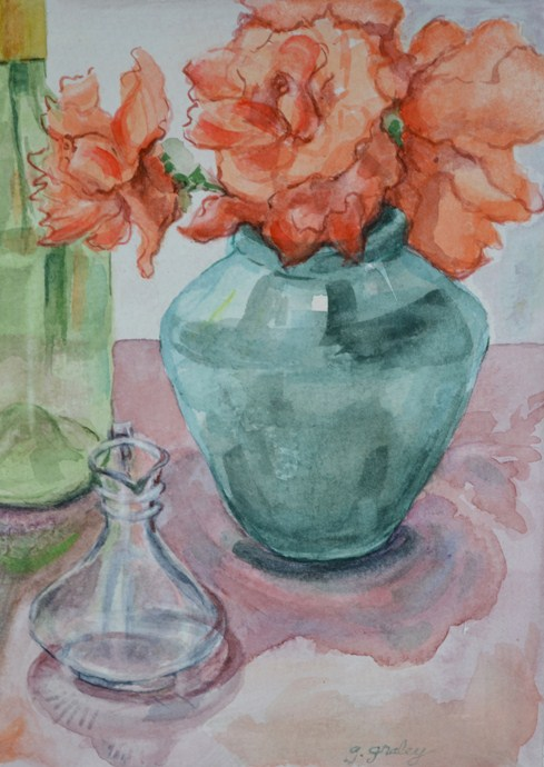 """Flowers and Reflections"" original fine art by Geri Graley"