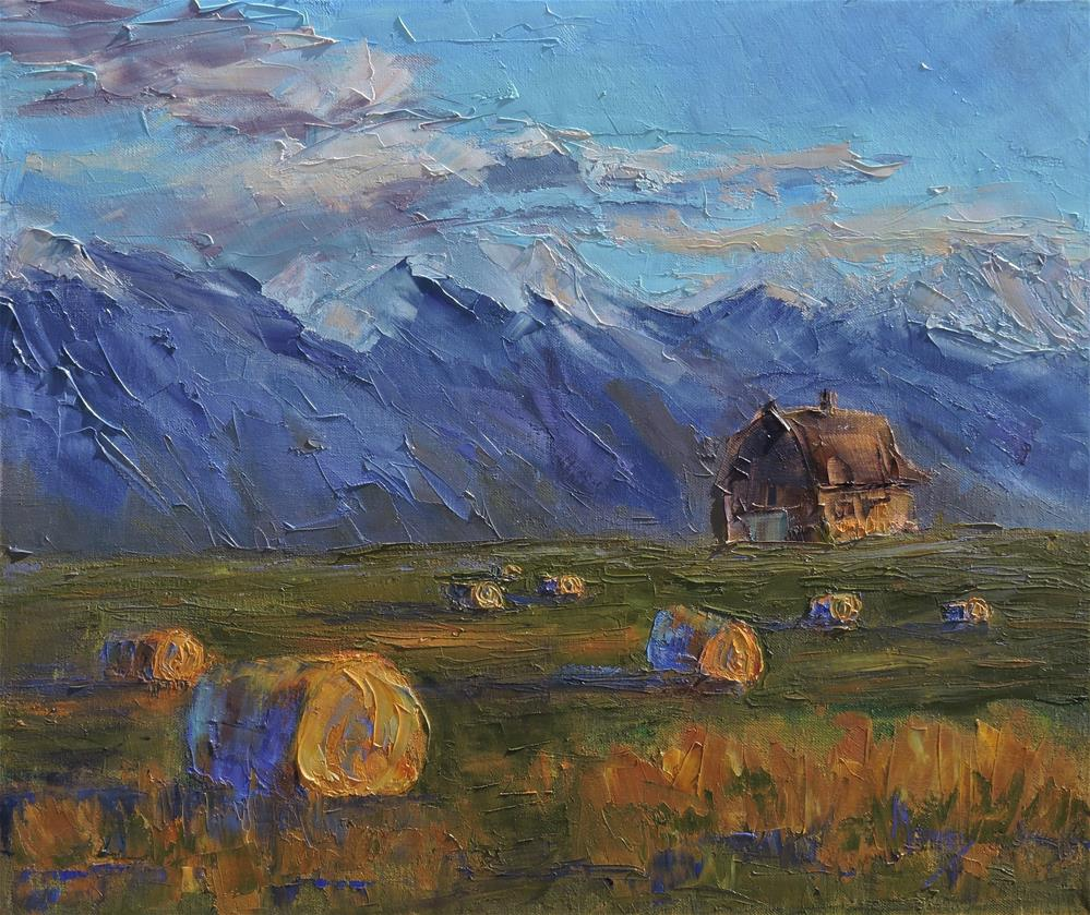 """Make Hay while the Sun Shines"" original fine art by Linda mooney"