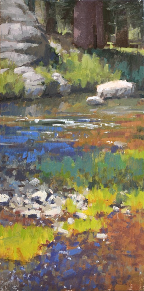 """Serenity Creek"" original fine art by Carol Marine"